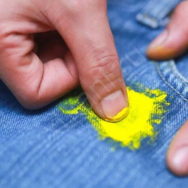 Как отстирать краску с джинс