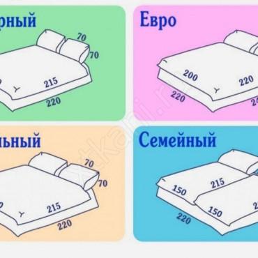 Размеры постельного белья таблица