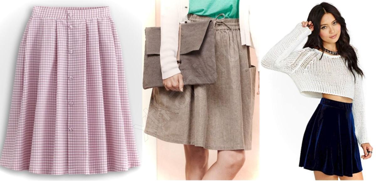 Сшить юбку из трикотажа солнце